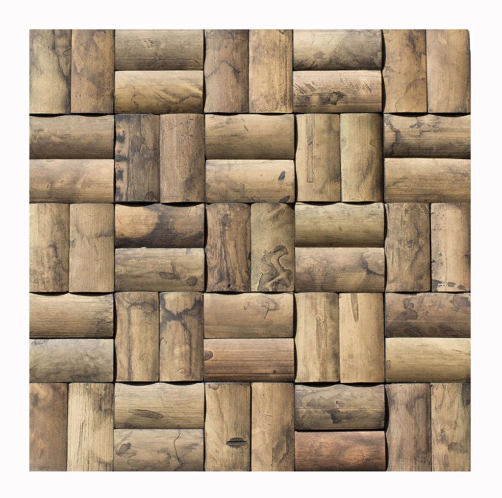 - Bambus - Mosaikfliesen - Wandpaneele - Holz-Verblender - Bamboo Mosaic -